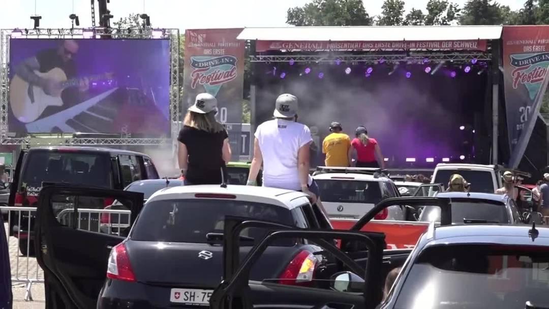 Erstes Drive-In Konzert der Schweiz