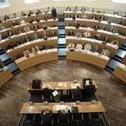 Der Grosse Rat Aargau während einer Sitzung.