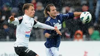 Schon immer (hier ein Bild aus der Saison 2012/13) waren die Derbys zwischen Wohlen und Aarau hart umkämpft.