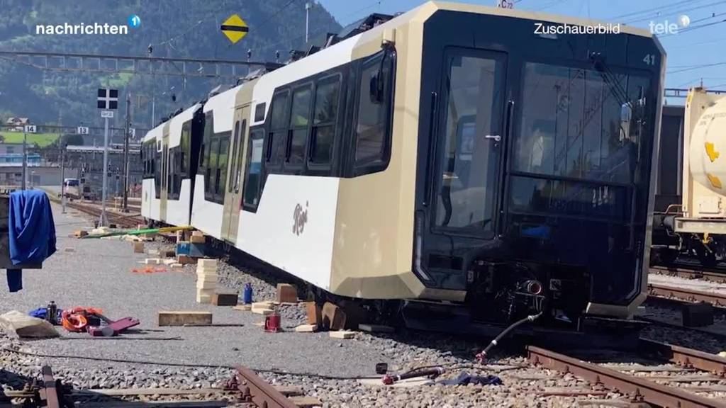 Neue Rigibahn landet neben den Gleisen