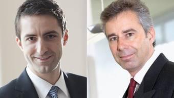 Andreas Schöb und Ralph Schiltknecht (rechts) kandidieren für das Gerichtspräsidium IV