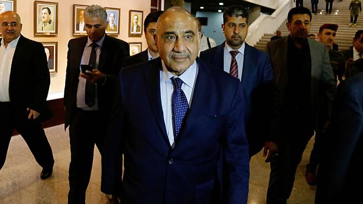 Adel Abdul-Mahdi hatte seinen Posten als Chef einer fragilen Koalitionsregierung erst vor einem Jahr nach wochenlangem politischen Ringen angetreten. (Archivbild)