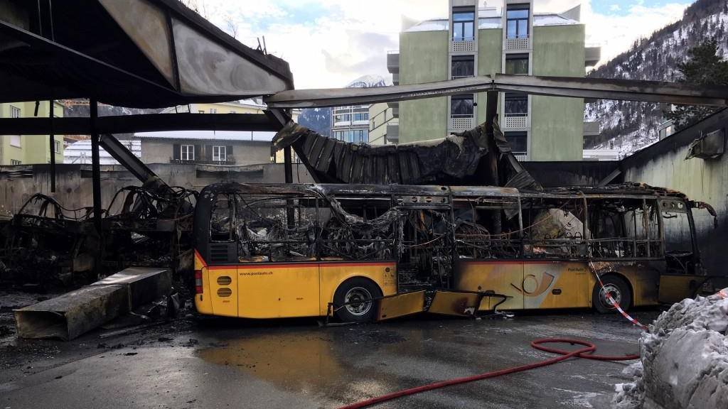 So kam es zum Grossbrand in Postautogarage in Chur
