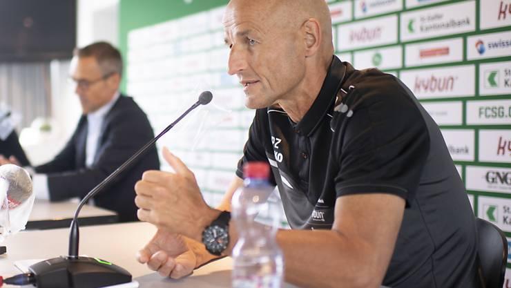 Peter Zeidler wird mit dem FC St. Gallen gegen Thun gefordert sein