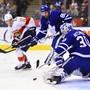 Erster NHL-Hattrick: Floridas Stürmer Mark Pysyk (links) erzielte beim 5:3-Sieg in Toronto drei Tore