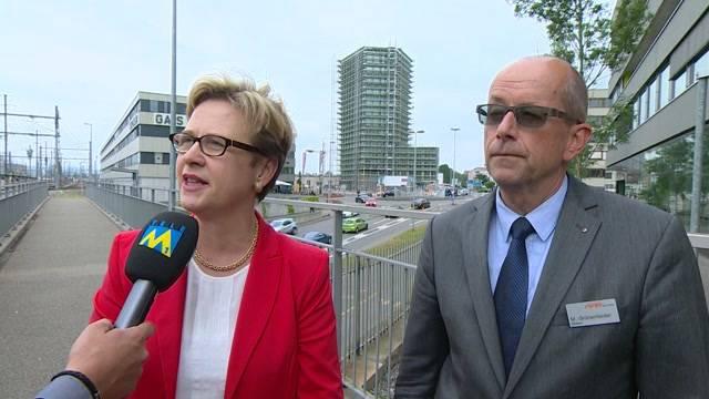WSB-Direktor Mathias Grünenfelder und Gewerkschafterin Edith Graf-Litscher