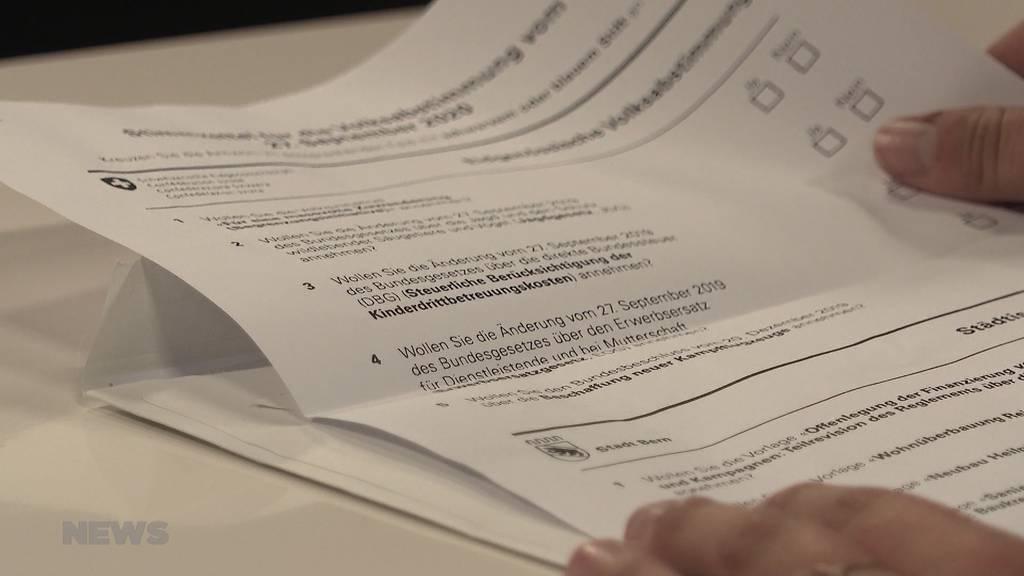 Komplizierte Abstimmungsformulierungen: Welche Vorlage geht um den Vaterschaftsurlaub?