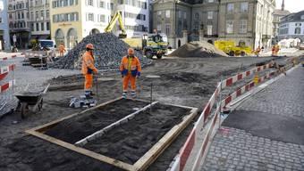Noch ist der Münsterhof grösstenteils eine Baustelle, doch bereits ab 2016 soll er zum Kulturplatz werden.