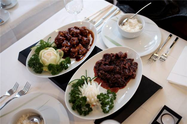 Das Paradegericht des Meisterkochs ist das knusprige Rindfleisch.