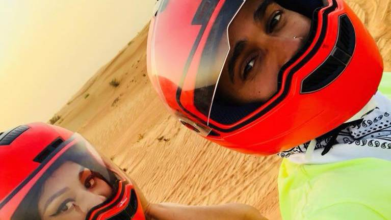 Nicki Minaj und Lewis Hamilton in Dubai