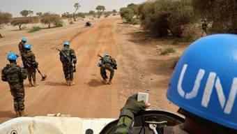 """Ein Convoy mit Soldaten der Uno-Mission Minusma patroulliert in Mali. Die Uno warnt mittlerweile, dass die Ereignisse in dem Land """"sehr besorgniserregend"""" seien. (Archivbild)"""