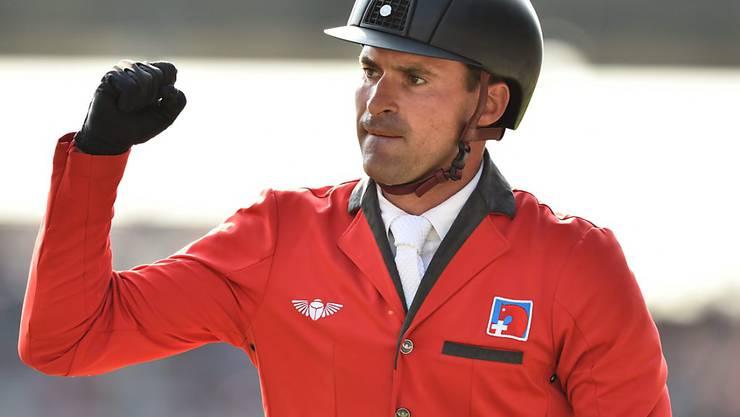 Romain Duguet, eine der Schweizer Teamstützen, will auch am CSIO St. Gallen 2016 jubeln