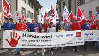 Die Gewerkschaften drohen nun mit Streik - allerdings nur als allerletztes Mittel. (Archiv)