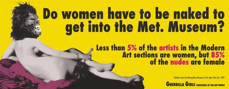 Das Plakat der Guerilla Girls.
