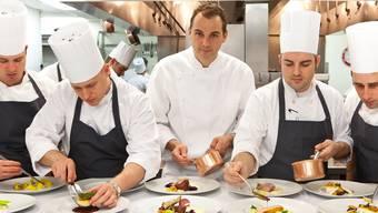 Daniel Humm mit seiner Küchenbrigade in seinem Restaurant Eleven Madison Park, der besten Adresse in New York: «80 Prozent des Erfolgs sind harte Arbeit.»