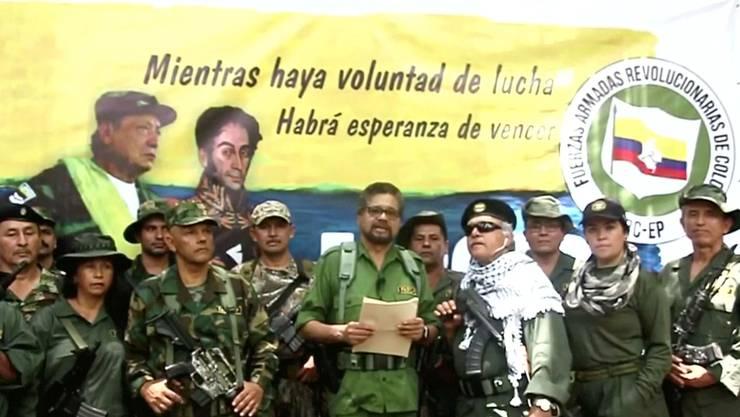 Iván Márquez (Mitte), der Kopf der neuen Guerilla.