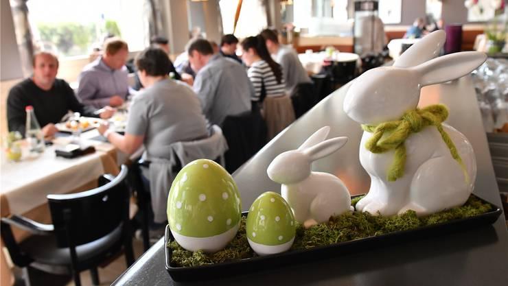 Das Osterfest ist für die Gastronomen kein Grund, den Betrieb geöffnet zu halten (im Bild das Restaurant Aarhof in Olten). Bruno Kissling