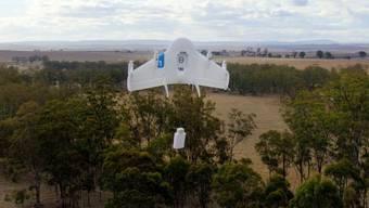 Google testet eine Drohne, die künftig auch schwerere Pakete per Luftweg zu den Kunden bringen soll.