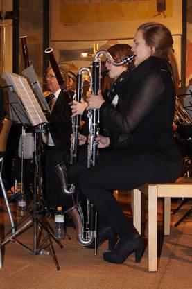 Bassklarinetten (vorne) und Fagotte besetzen tiefe Stimmen