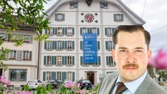 Der Regierungsrat hat am 4. März entschieden, das KV Lenzburg zu schliessen. Deshalb will die FDP Lenzburg (im Bild Parteipräsident Philippe Minnig) jetzt einen tieferen Steuersatz prüfen.