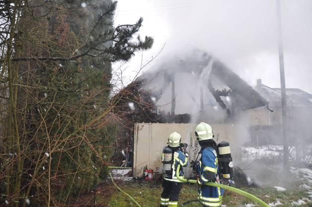 Die Feuerwehr hatte das Feuer rasch unter Kontrolle