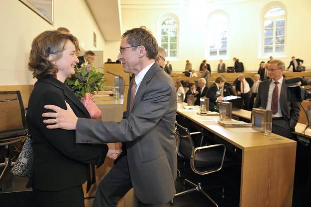Nach der Wahl: Regierungsrat Urs Hofmann gratuliert