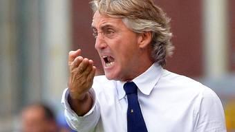 Roberto Mancini in Genua
