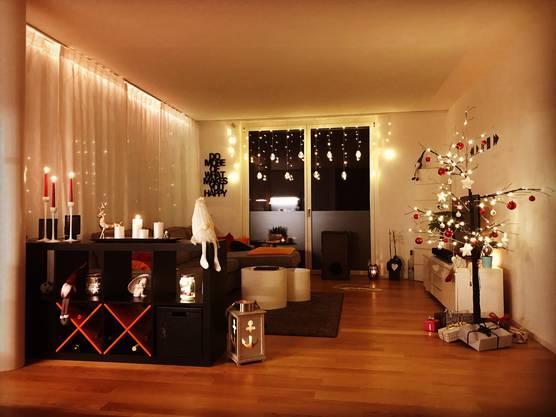Die Wohnung von Marco Galantino in Zuchwil ist schön weihnachtlich dekoriert.