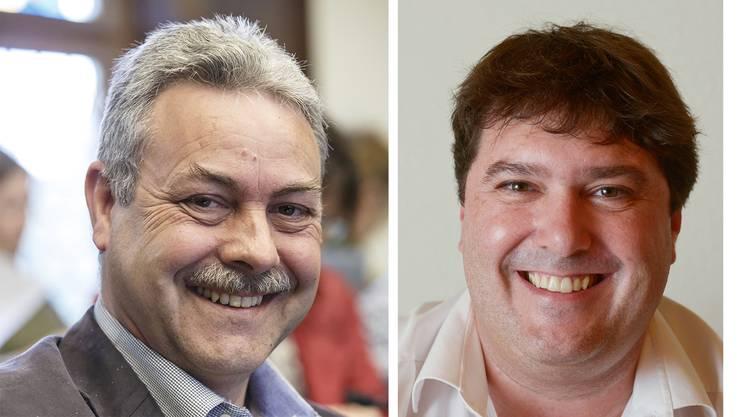 Markus Baumann (links) und Roger Spichiger: Gleich zwei SP-Gemeinderäte Gemeindepräsident von Derendingen werden.