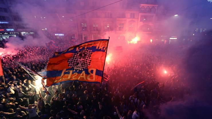Seit sechs Jahren ein fester Bestandteil im FCB-Jahreskalender: Die Meisterfeier auf dem Barfüsserplatz.