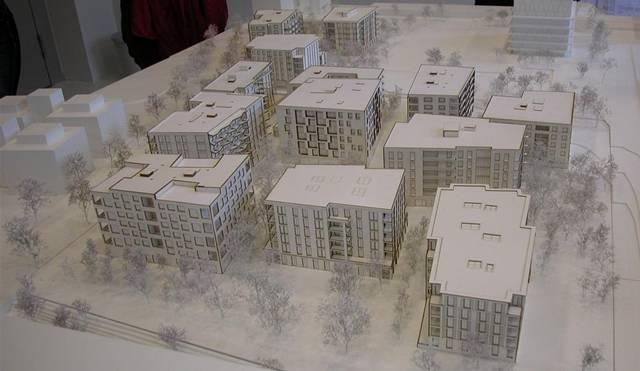 13 Häuser für 1100 Einwohner – das neue Quartier in Zürich Nord.modellbild