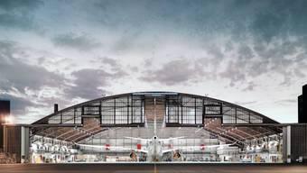 Flugzeug in einem Hangar von SR Technics: Die chinesische HNA übernimmt die Mehrheit an dem Unternehmen.