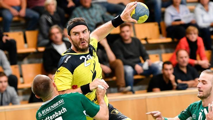 St.Otmars Linkshänder Rares Jurca erzielte den letzten Treffer.