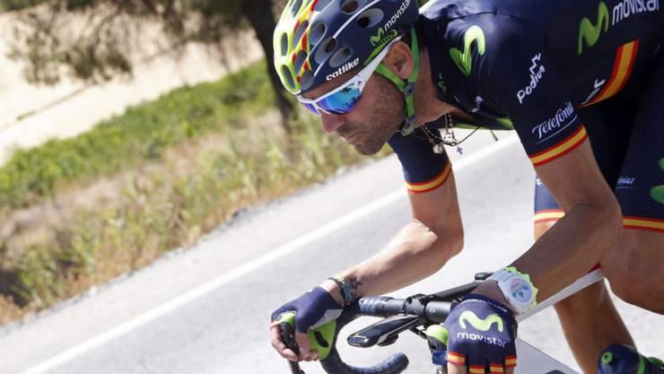 Der 35-jährige Spanier Alejandro Valverde sprintete in Andalusien zum Etappensieg