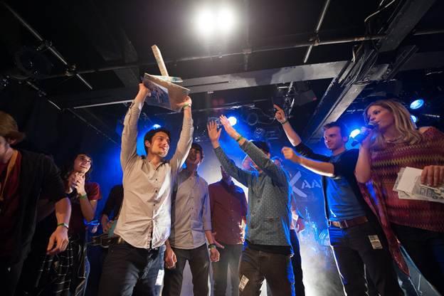 Pinut gewinnen das Finale des bandXaargau 2013 Nachwuchsband-Festivals KiFF Aarau.