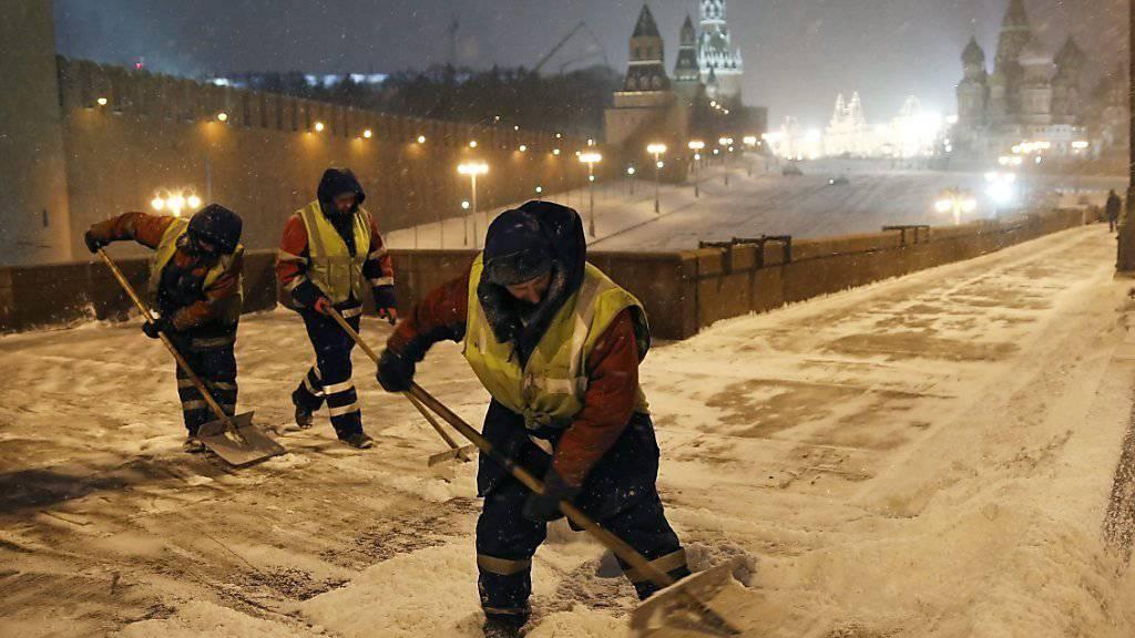 Schneeräumung in Moskau