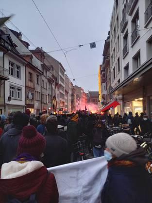 Bilder zur Demonstration «Basel Nazifrei».