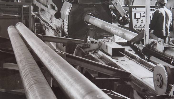 Im Werk Choindez entstehen Druckrohre im Schleudergiessverfahren.