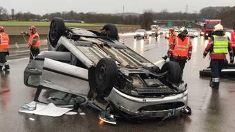 Verkehrunfall auf der A2 bei Pratteln