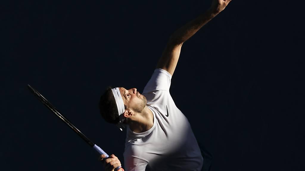 Wenig Licht und viel Schatten bei Dominic Thiems Leistung in den Achtelfinals gegen Grigor Dimitrov