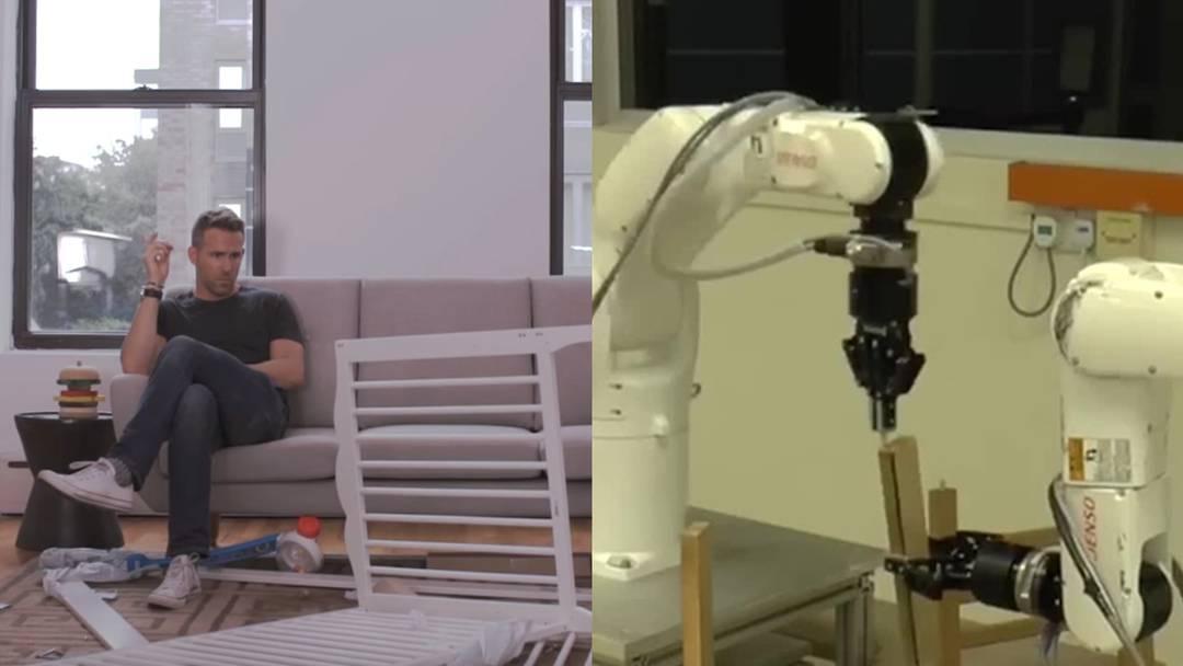 Ikea-Hilfe für Anfänger, Verzweifelte und sonstige Anleitungs-Opfer: Dieser taiwanesische Roboter baut Ikea-Stühle selbstständig zusammen.