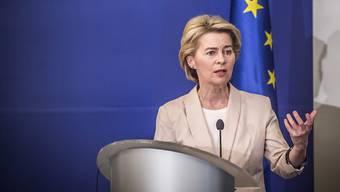 Freut sich auf Kolleginnen: EU-Kommissionspräsidentin Ursula von der Leyen.