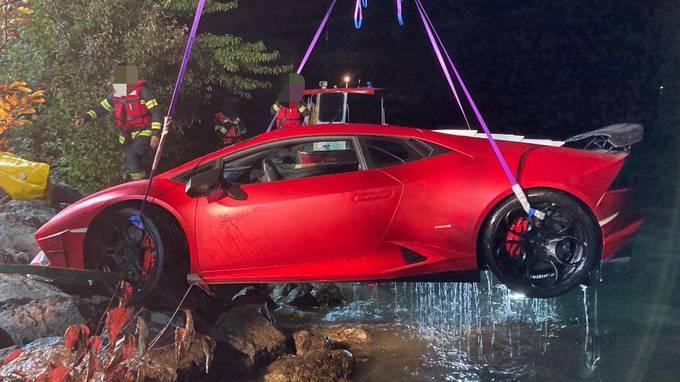 Schweizer versenkt Lamborghini im See – Polizei amüsiert