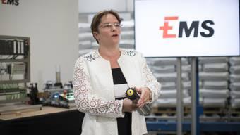 Ems-Chefin Magdalena Martullo spricht im Interview über die neuen Rekorde bei Gewinn und Umsatz ihres Unternehmens