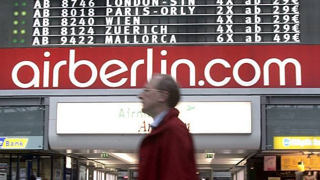 Auch am Mittwoch haben sich viele Air-Berlin-Piloten krank gemeldet.