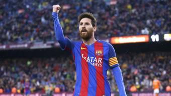Traf auch gegen Osasuna: Barças Superstar Lionel Messi