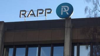 Die Rapp-Gruppe betreibt zwei Standorte in der Region Basel. Auf dem Dreispitz-Areal arbeiten 160 und an der Hochstrasse 200 Angestellte.