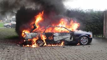 Autobrand in Unterstammheim