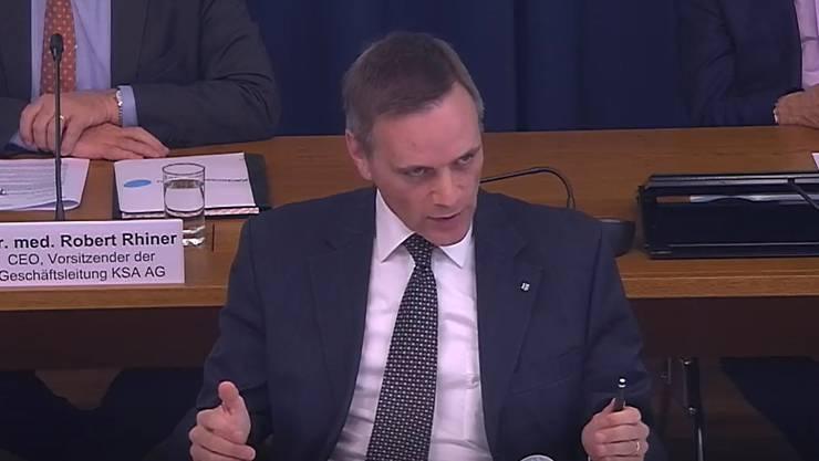Gesundheitsdirektor Jean-Pierre Gallati informiert am Point de Presse über die Corona-Situation im Kanton.