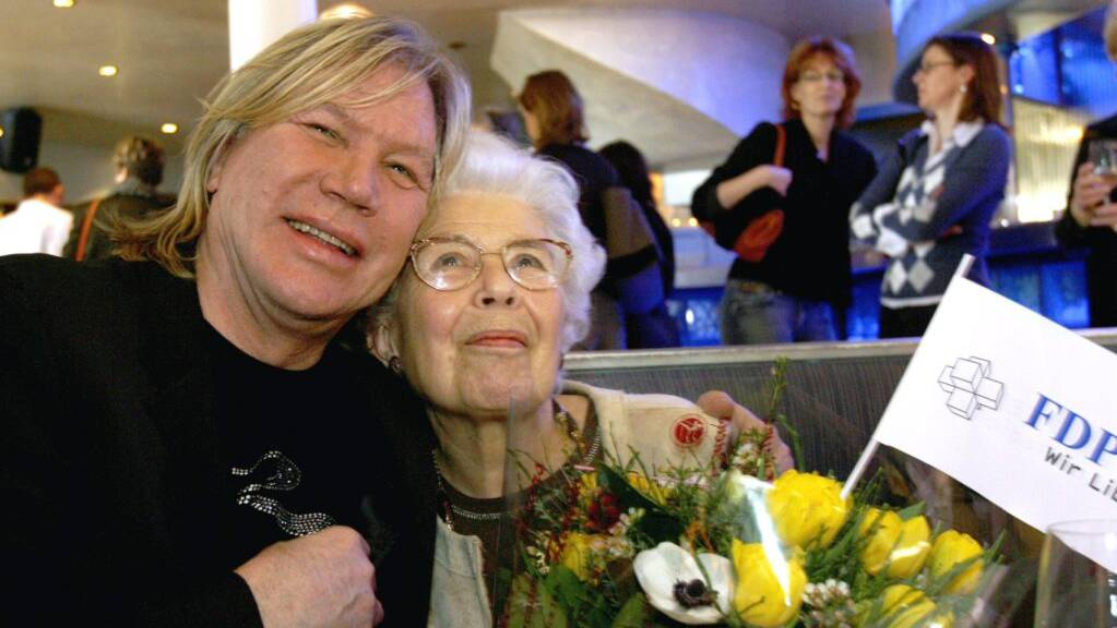 Patrick Juvet mit seiner Mutter im Jahr 2007. (Achivbild)